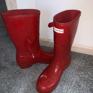 Red Hunter Boots size 8